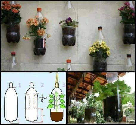 Apartment vertical gardening freedom for sustainability for Garden design using plastic bottles